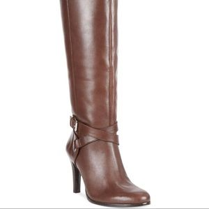 Ralph Lauren Becca Boots in dark brown (wide calf)